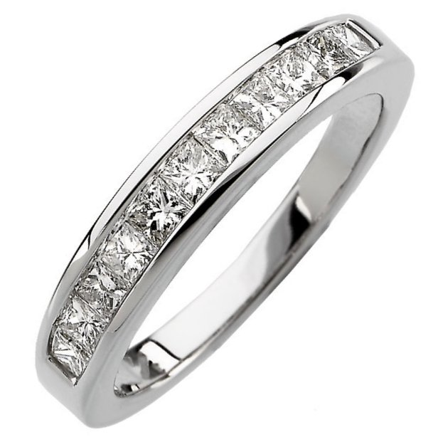 in diamond tw w ct v white t certified gold p anniversary princess princesscut bands contour band cut